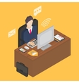 Business isometric 3d workplace vector