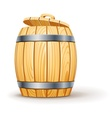 Wooden barrel with lid vector