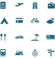 Travel leisure and tourism icon set vector