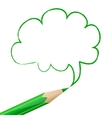 Green speech bubble drawn with pencil vector