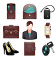 Business lady accessories vector