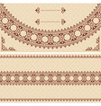 Beige card with dark brown ornament vector