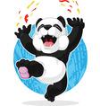 Panda jumping in excitement vector