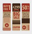 Sale coupon voucher tag vintage style template vector