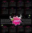 Grunge emo calendar for 2009 vector