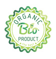 Eco labels bio template ecology theme vector