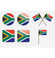 Badges with south africa flag vector