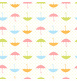 Cute autumn seamless pattern with umbrellas vector