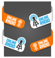 Left and right side signs - online radio vector