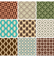 Seamless ornament patterns vector