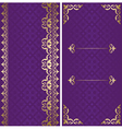 Golden and violet cards with arabic ornament vector