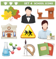 School icons set 4 vector