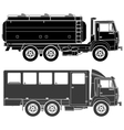 Cars silhouettes set vector
