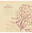 Beautiful peony vintage background vector