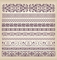 Set vintage ornate border frame with retro vector