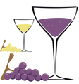 Glass of wine vector