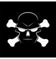 Icon skull and crossbones - a mark of the danger vector