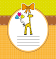 Baby giraffe card vector