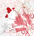 Romantic background with bright colors vector