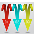 3d red spiral arrow pointer tags abstract vector