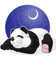 Panda sleeping vector