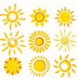 Sun collection vector