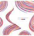 Background with multicolored lines vector