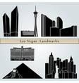 Las vegas landmarks and monuments vector