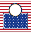 American flag background with stars symbolizing vector
