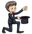 Magician with a hat vector