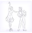 Couple dances latin fast ballroom dances vector