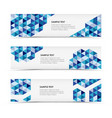 Abstract blue triangle horizontal banners vector