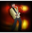 Abstract music jazz with saxophone player vector