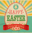 Card easter vector