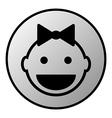 Baby button vector