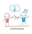 Pulmonologist scissor cigarette patient vector