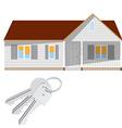 Modern house and keys vector