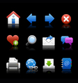 Professional icons navigation black vector