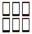 Smartphone white screen template vector