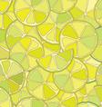 Fresh lime citrus seamless pattern vector