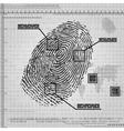 Finger print background vector