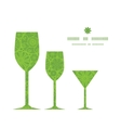 Abstract green and white circles three wine vector