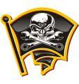 Jolly roger badge vector