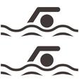 Swimming icon vector