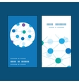 Connected dots vertical round frame pattern vector