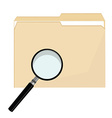 File folder and magnifier vector