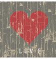 Heart on wood vector