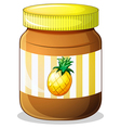 A bottle of pineapple jam vector