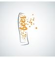Beer glass splash background vector