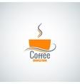 Coffee cup menu background vector